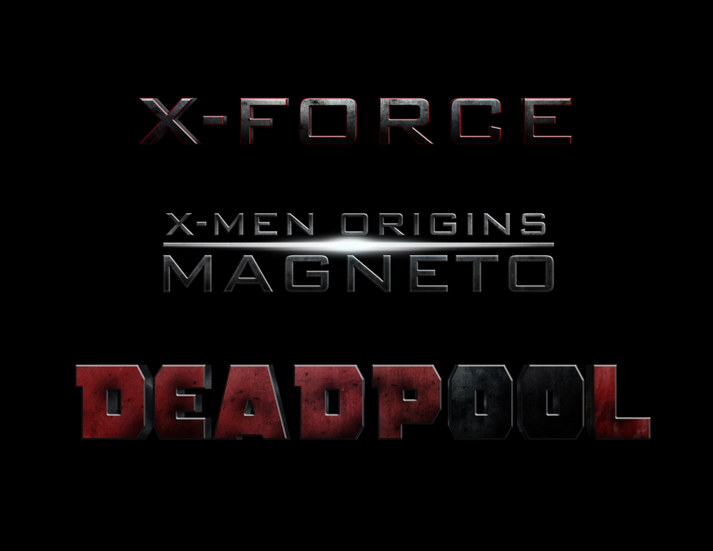 XMen DEADPOOL XFORCE Marvel logo, Logo
