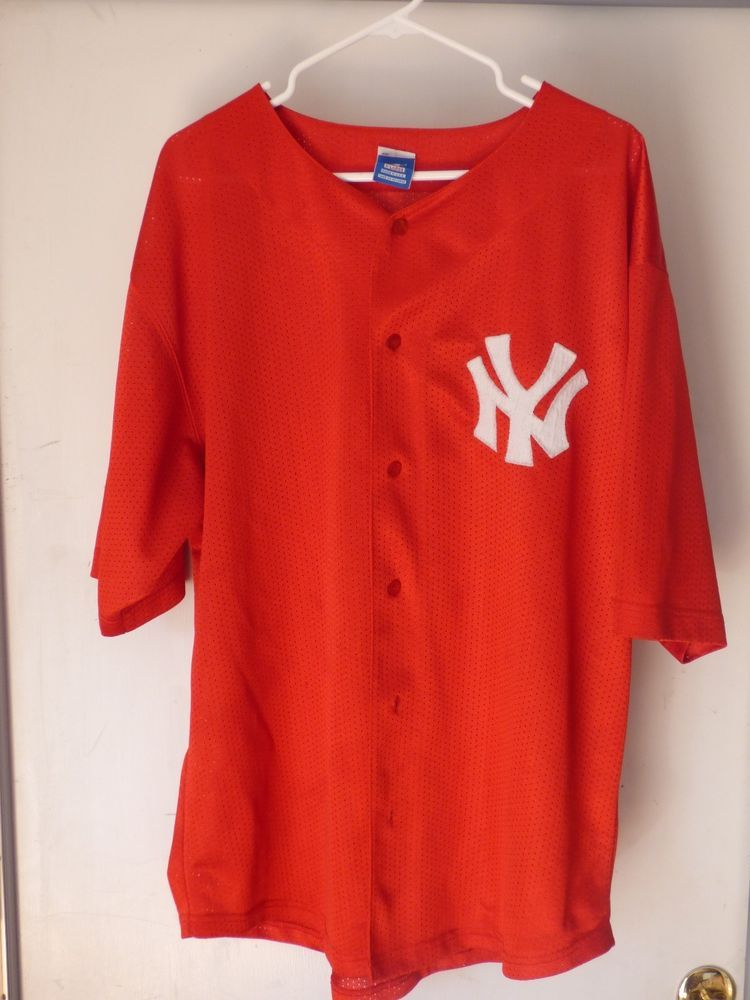 New York  Yankees starter Button-up Vintage Red Jersey (xl) from  23.0 83cab66889f