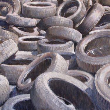 "Saatchi Online Artist Andrea Mancini; Painting, ""#1502 tires"" #art"