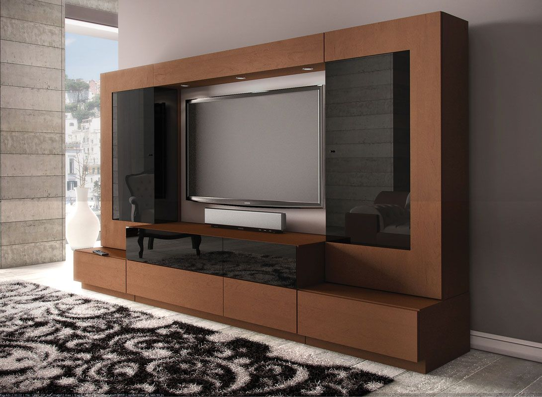 Living Room Tv Design Ideas Uncategorized Elegant Contemporary Black And Brown Cabinets Furniture Modern Stylish Led Media