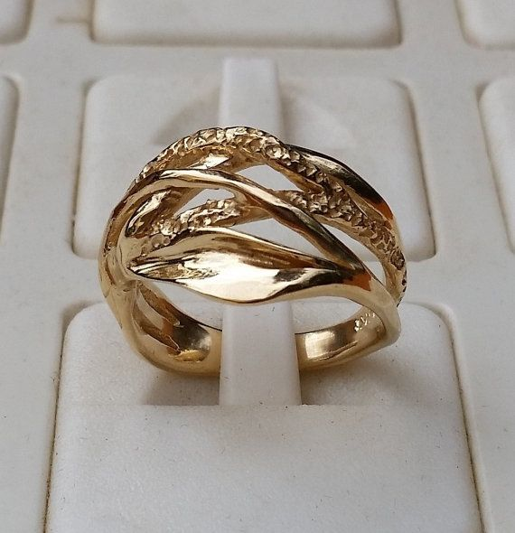 Wedding Gold Ring 14K Yellow Gold Band Handmade by TalyaDesign