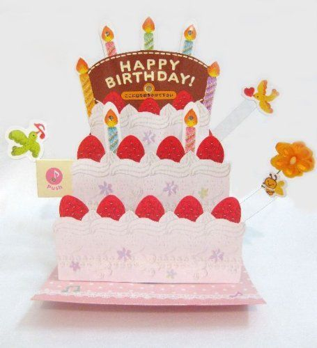 Brilliant Birthday Cake Blow Out Candles Lights Melody 3D Pop Up Funny Birthday Cards Online Unhofree Goldxyz