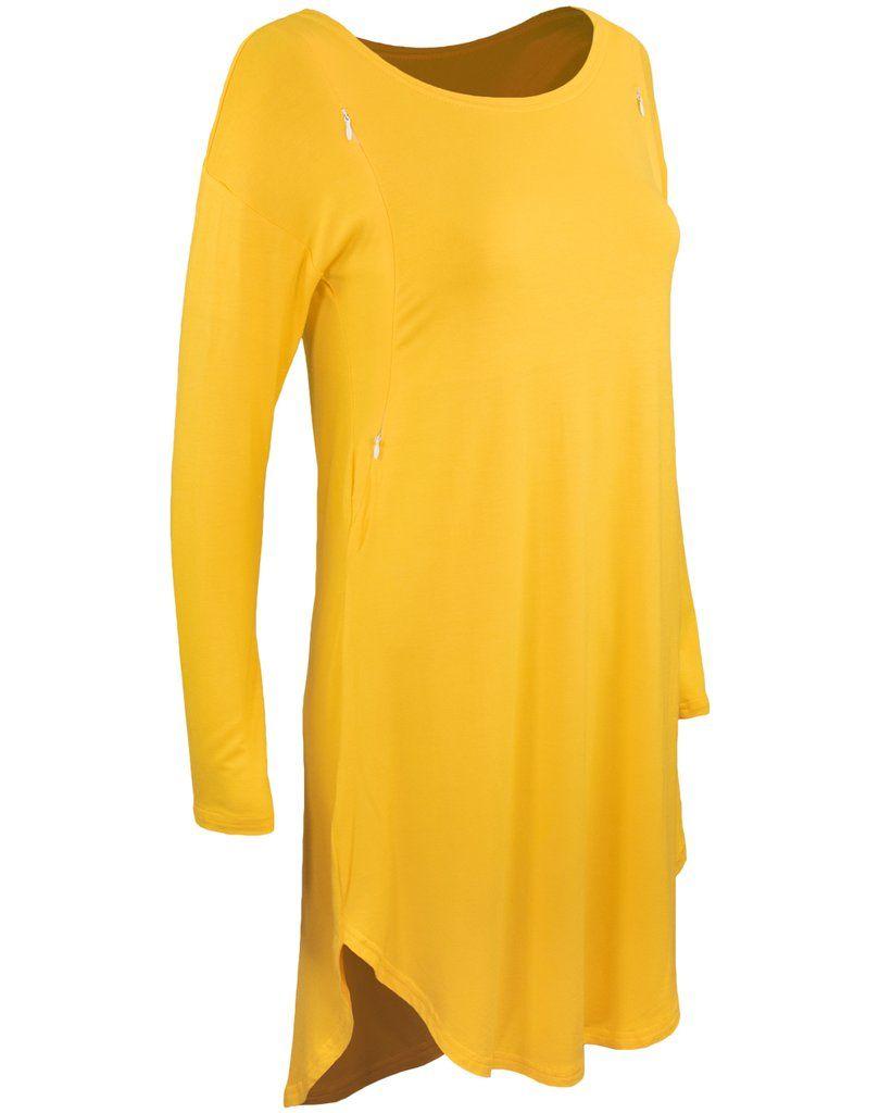 24773500f1a4b La mere breast feeding Tunic - Mustard Nursing Tunic, Pregnancy Stages,  Breast Feeding,