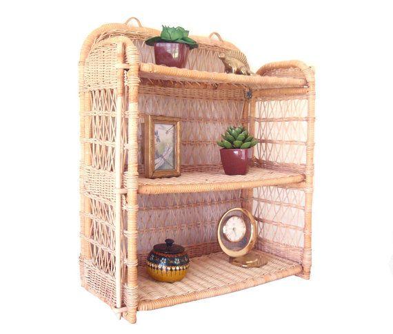 Fantastic Wicker Shelf 3 Tier Vintage By Dragonflygypsysoul Wicker Shelf Wicker Vintage Home Decor