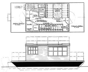 20 24 Water Lodge Flat Bottomed Houseboats Boatdesign Wood Boat Plans House Boat Wooden Boat Plans
