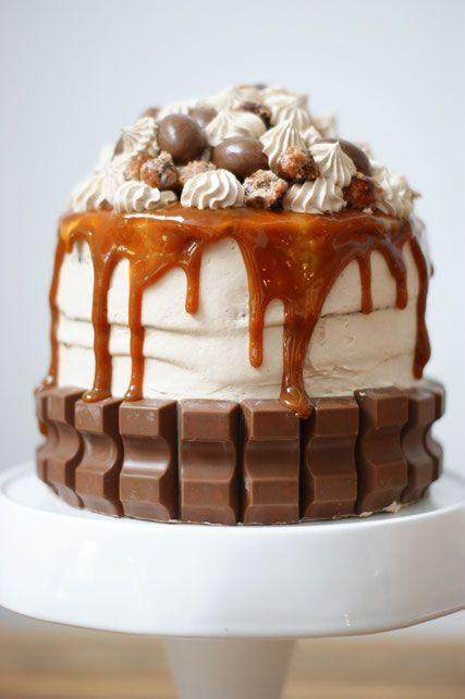 dekadenter Schokoladennougatkuchen für Kinder   - Backen -