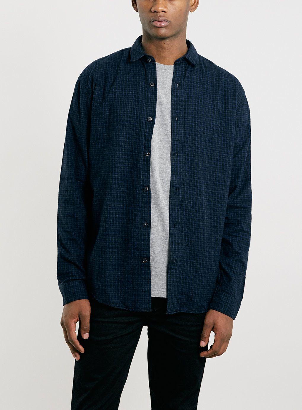 los angeles aa401 33a80 Selected Homme Indigo Check Shirt | Topman | Check shirt ...