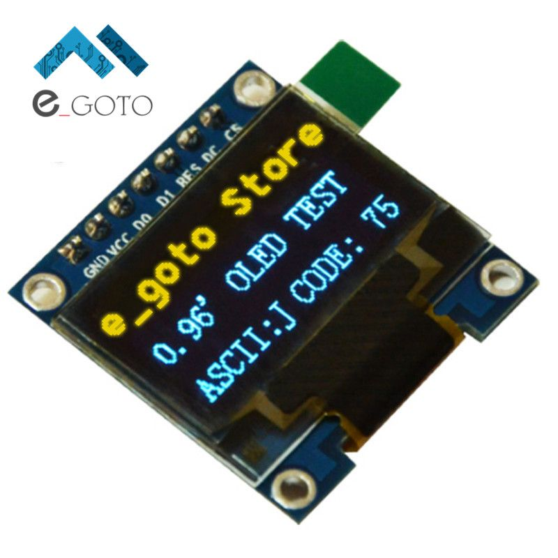 0 96 Inch Iic Spi Serial 128x64 Yellow Blue Oled Display Module I2c Lcd Screen Board 0 96 Ssd1306 For Arduino Stm32 51 Arduino Lcd Display
