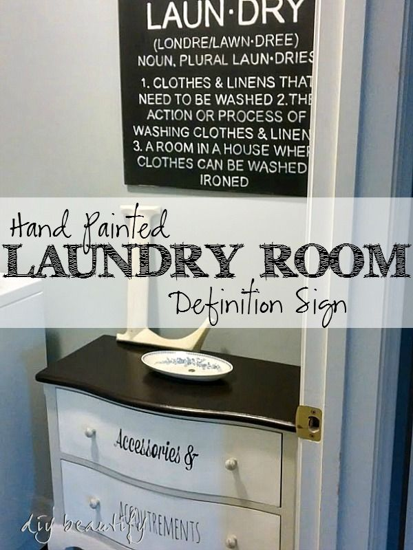 Cute Laundry Room Signs Hand Painted Laundry Room Definition Sign  Laundry Rooms