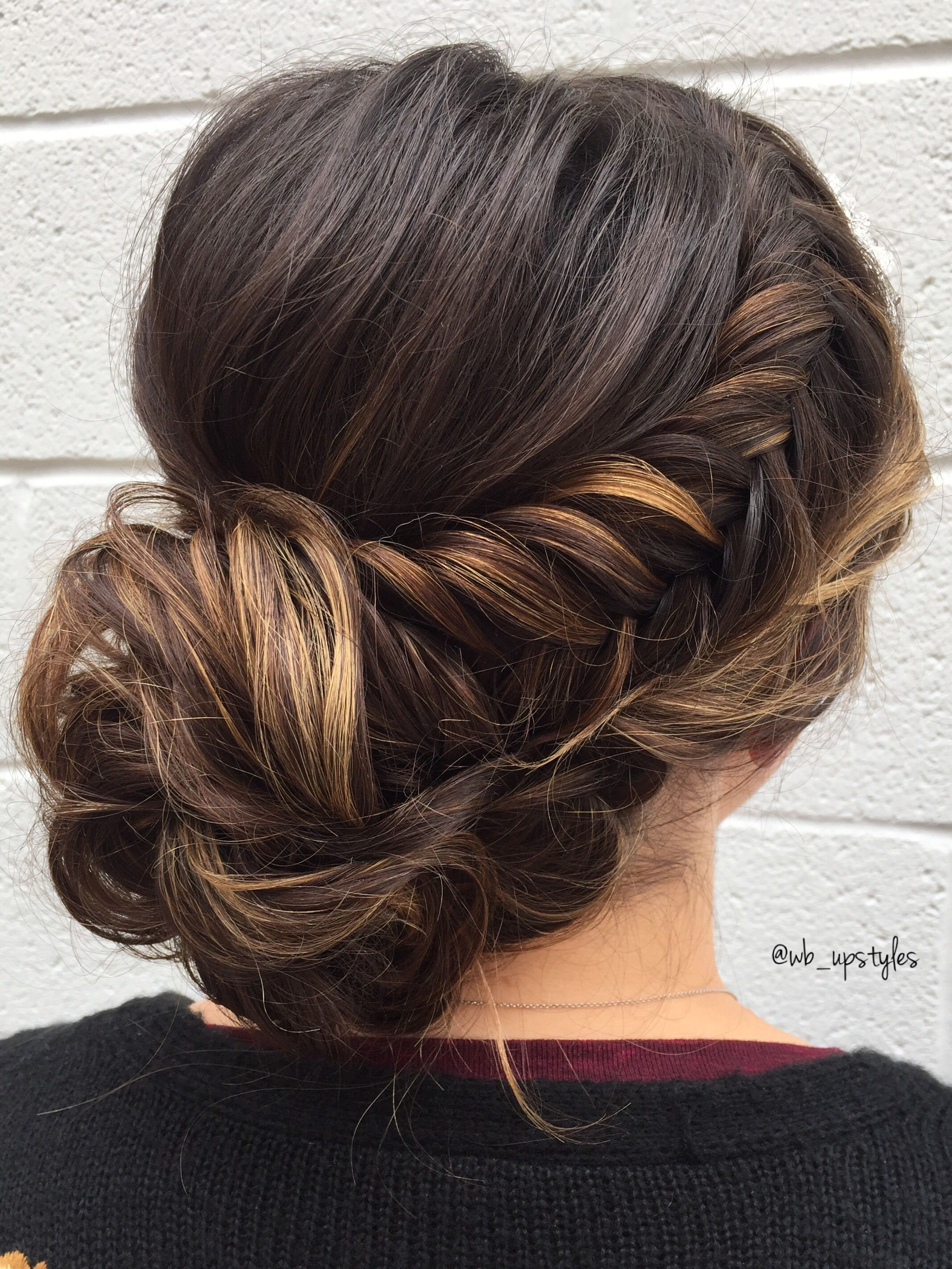 braided updo, fishtail french braid | wedding hairstyles in