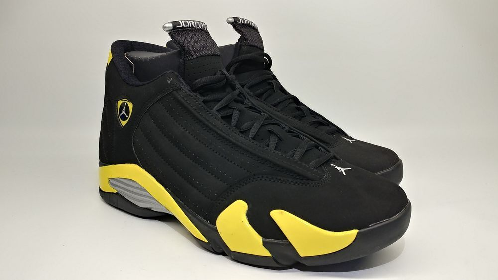 7616d11efcf8c7 2014 Nike Air Jordan 14 XIV Thunder Sz 10 Black Yellow. 487471-070  123456789  fashion  clothing  shoes  accessories  mensshoes  athleticshoes  (ebay link)