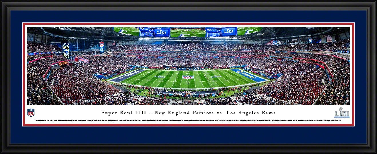 2019 Super Bowl LIII Panoramic Poster New England