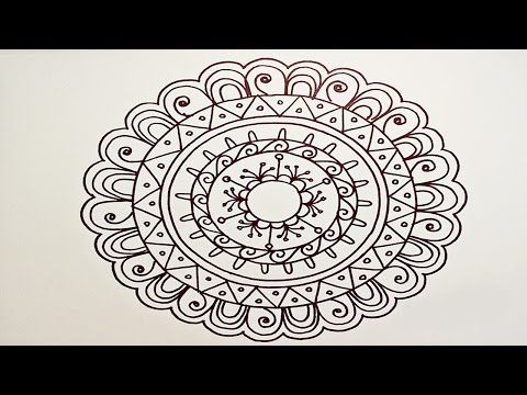 Drawing A Easy Fun Mandala For Beginners Part 1 Youtube