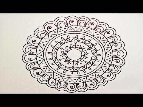 Drawing A Easy Fun Mandala For Beginners Part 1 Easy Mandala Drawing Mandala Drawing Mandala Design