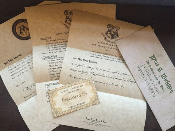 Personalized Hogwarts Acceptance Letter Custom door 4LittleFoxes - hogwarts acceptance letter