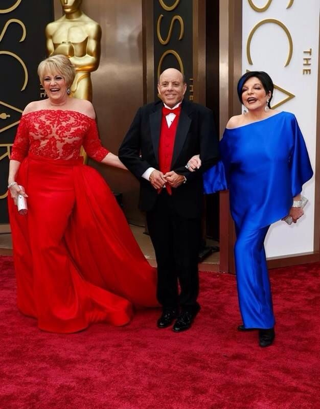 Judy Garland's children: Lorna Luft, Joe Luft, and Liza Minnelli at the 2014 Academy Awards