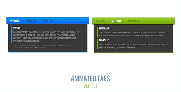 Animated Tabs