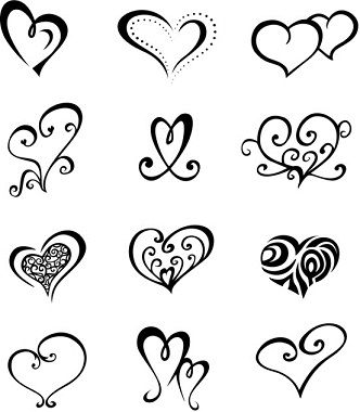 Love Heart Tatto Design