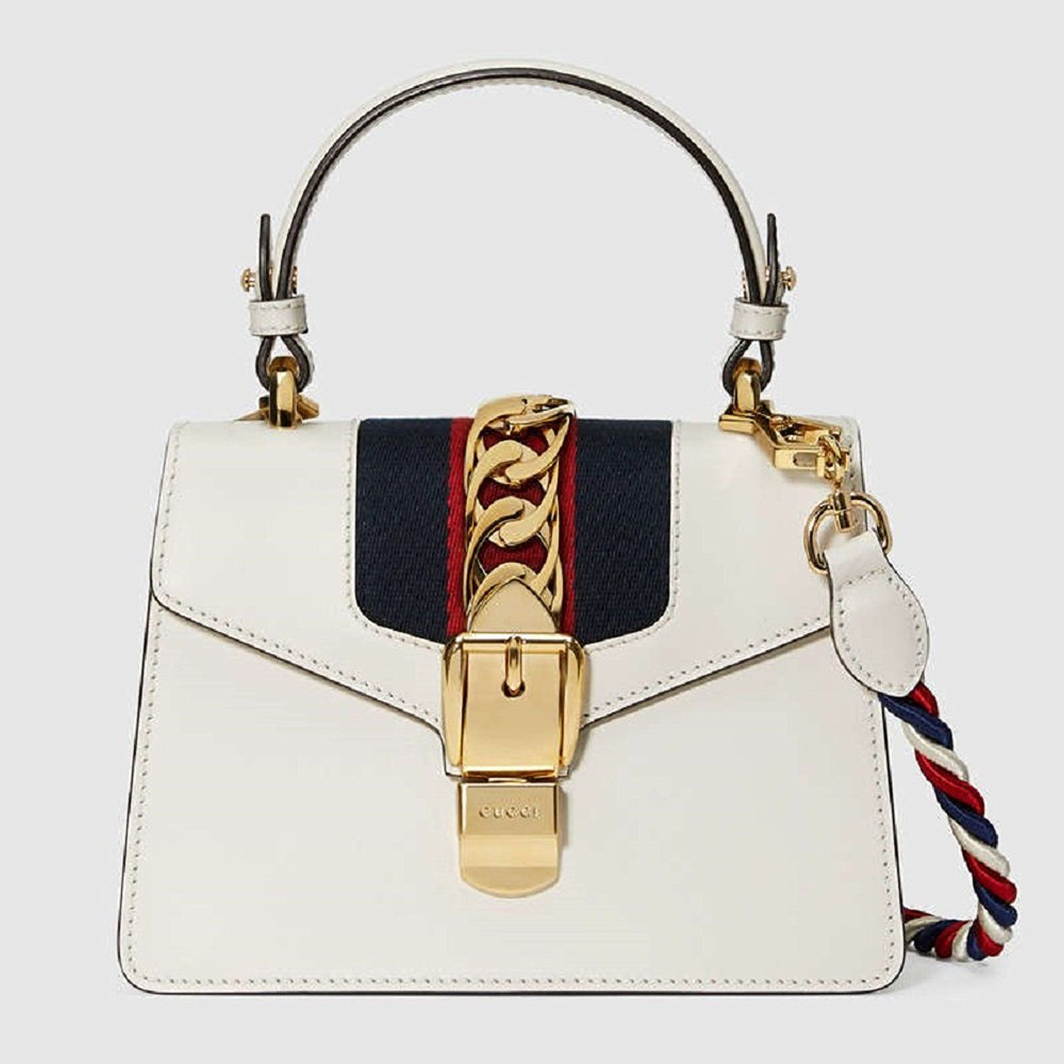 fcaa8800157 Gucci Sylvie Women s Series Of Elegant Leather Handbag Inclined Shoulder Bag   Shoes white gold