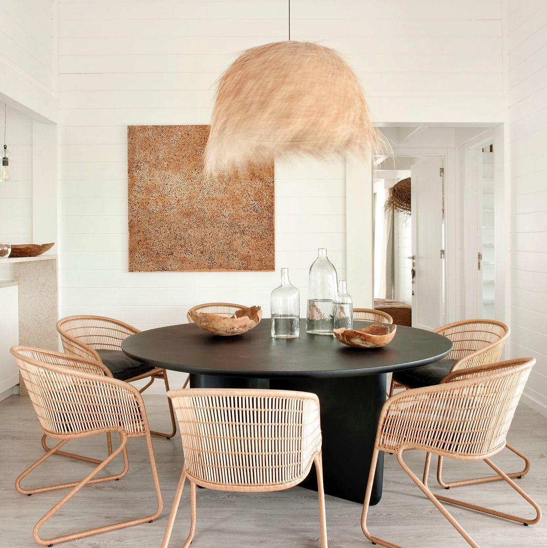 interieurstyling rotan interieurstyling eetkamer neutrale interieur inspiratie interieur ideen eetkamer inspiratie wicker chairs dining room