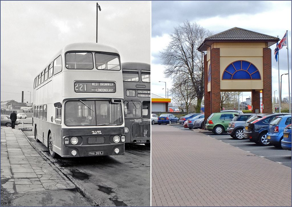 Oldbury Midland Red then and now | This WMPTE Daimler Fleetl… | Flickr
