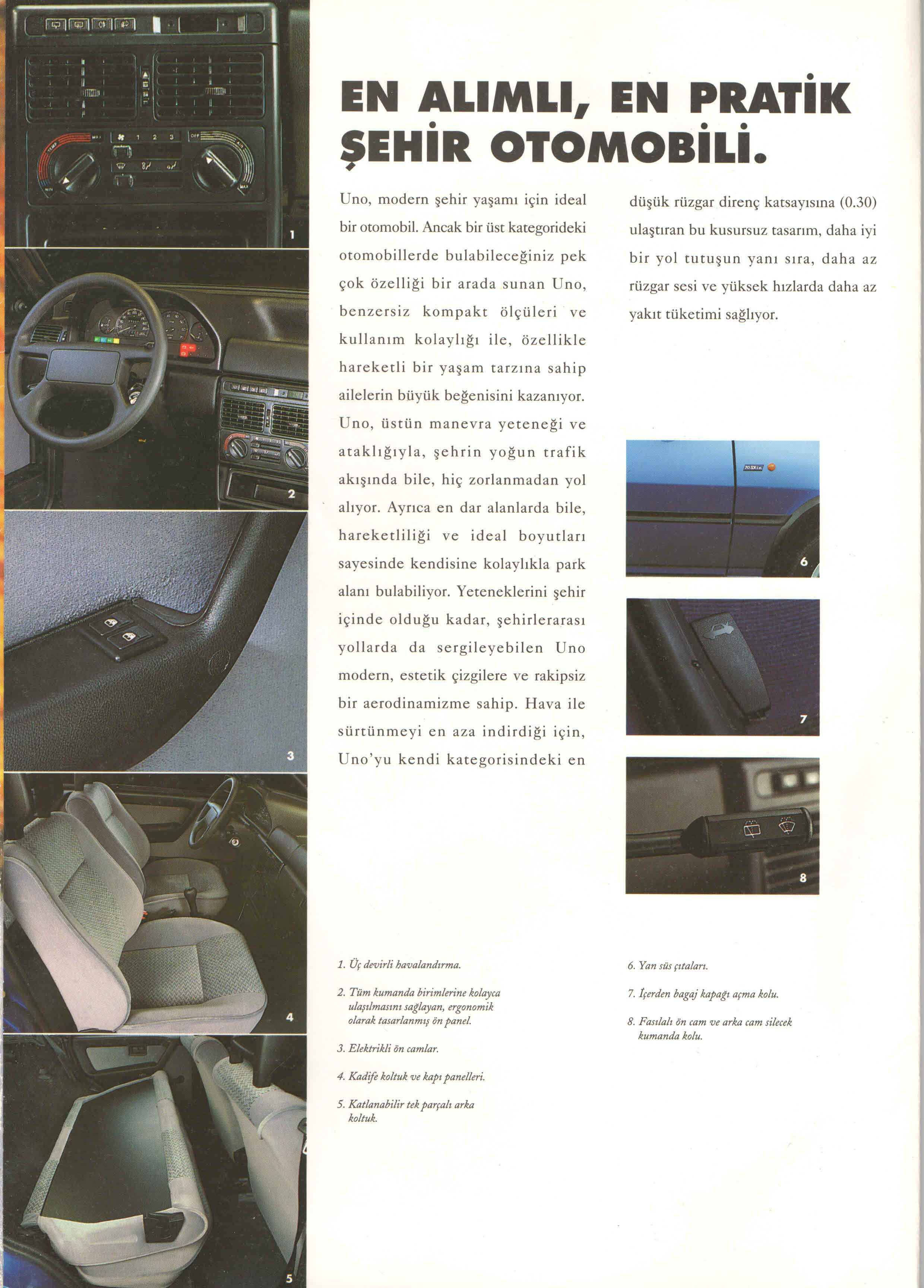 1996 Fiat Uno Turkish Catalog Page 4 8 1996 Fiat Uno Turkce Katalog Sayfa 4 8 Brosur Otomobil Gecmis Zaman