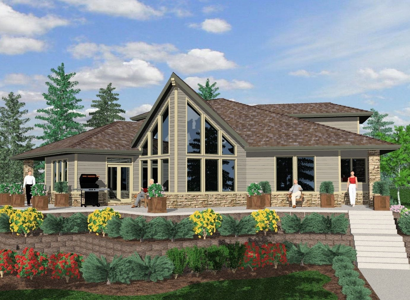 Home Plans For Mountainside Texas Hill Country House Plans Country House Plans Vacation House Plans
