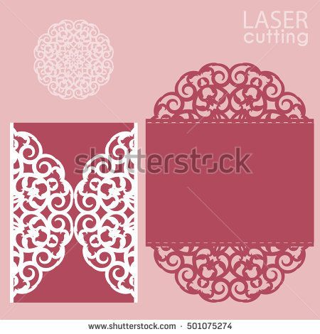 Laser cut wedding invitation card template vector cutout paper gate laser cut wedding invitation card template vector cutout paper gate fold card for laser cutting stopboris Choice Image