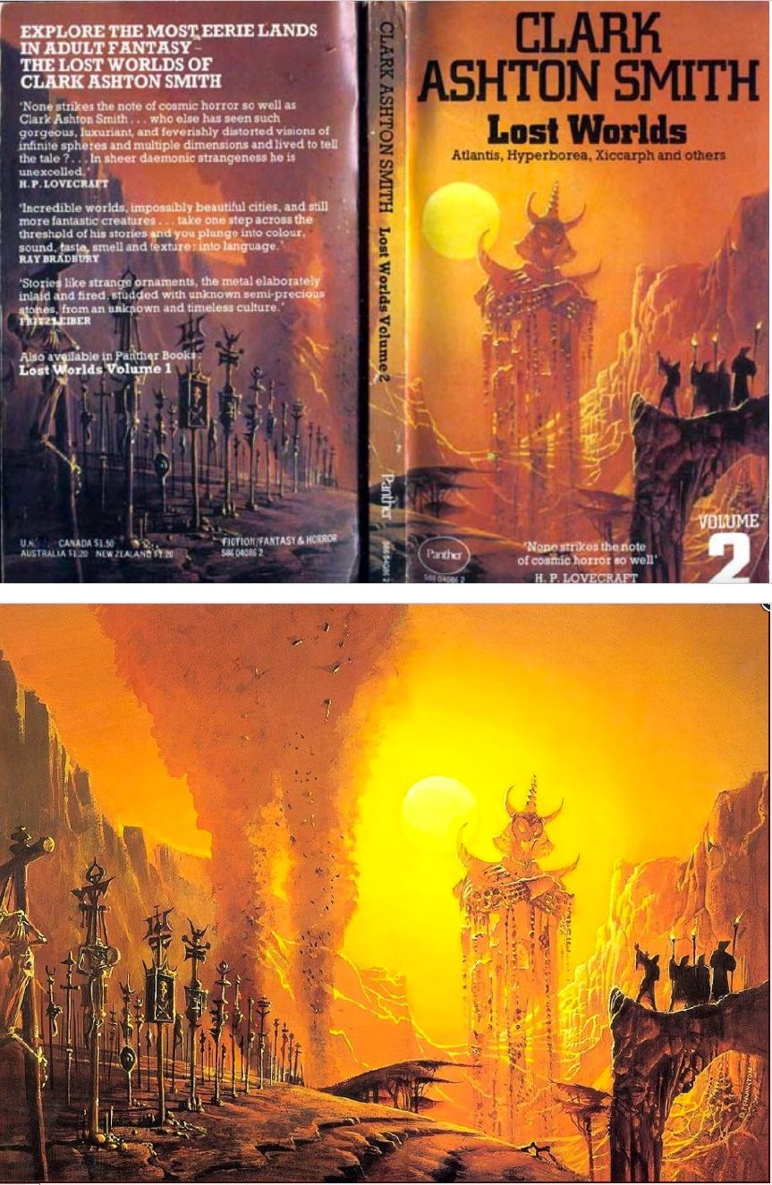 Bruce Pennington Lost Worlds Volume 2 By Clark Ashton Smith 1975 Panther Books Cover By Isfdb Print By 1staab Com