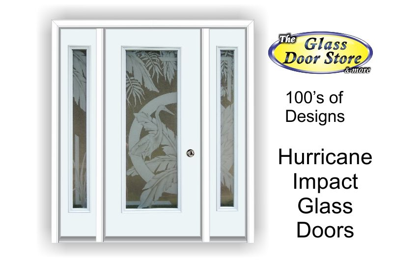 Hurricane impact glass doors with etched designs design for Design your own front door