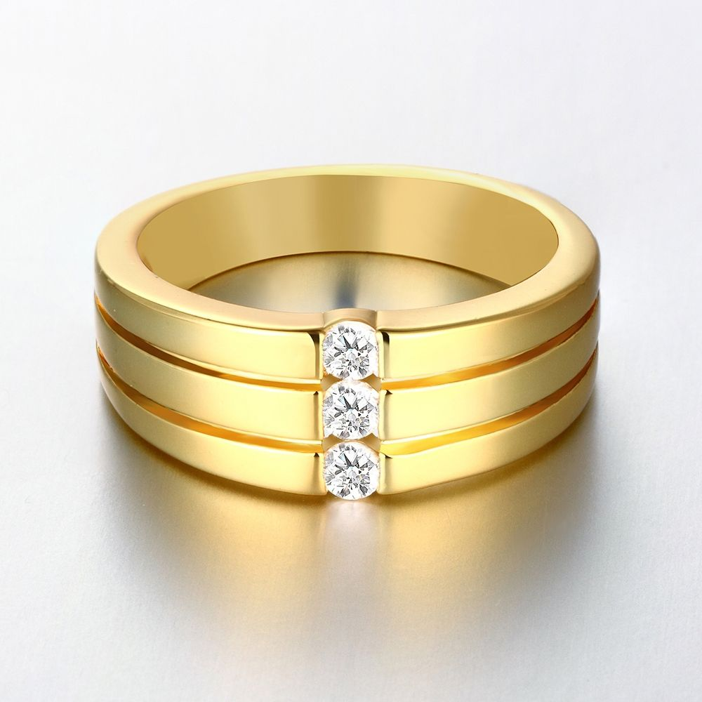 Find More Rings Information about Mens Rose Gold Plated Jewelry ...