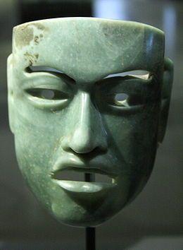 Máscara Olmeca de Jade (1200BCE-400BCE)
