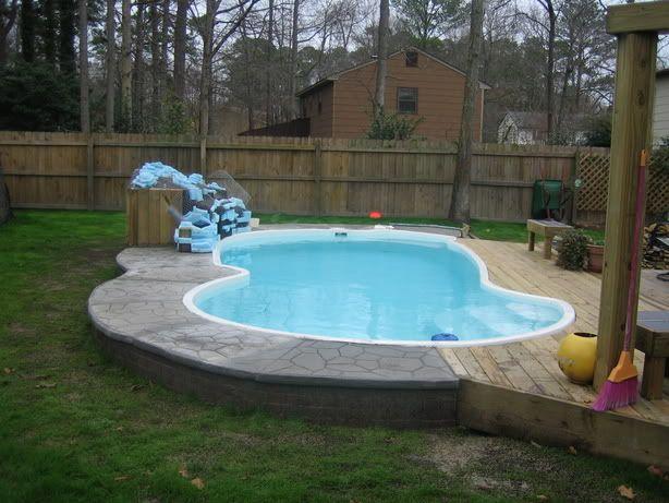 Superior Deck Above Ground Fiberglass Pool | Request For Advice Redoing The Deck  Around Fiberglass Pool U2022