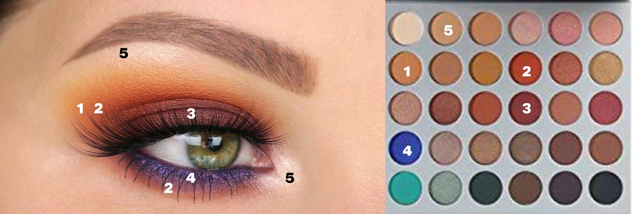 Jaclyn Hill palette sunset tutorial Eyemakeup Jaclyn