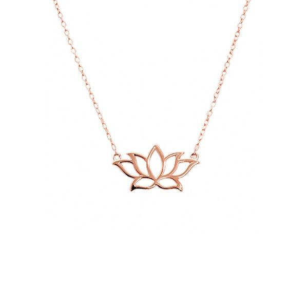 Sterling silver lotus necklace lotus necklace lotus and rose rose gold lotus necklace mozeypictures Choice Image