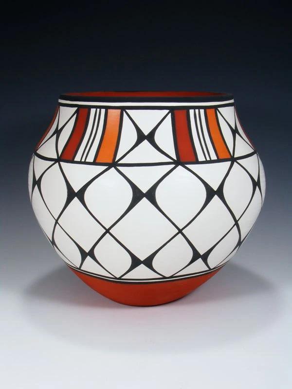 Acoma Pueblo Hand Coiled Pottery Bowl – PuebloDirect.com