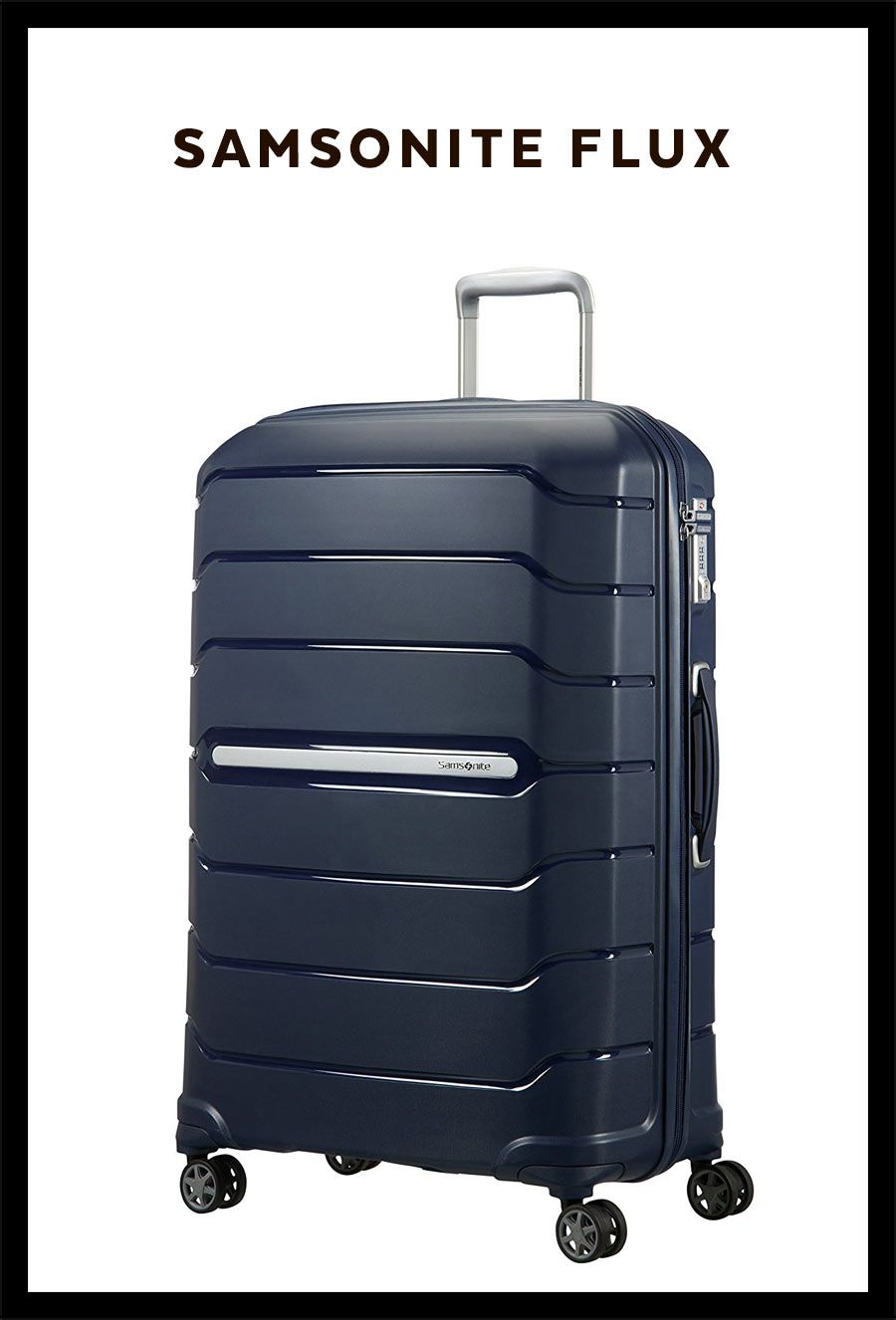 Samsonite Flux Spinner 75 28 Expandable Hand Luggage 75 Cm 121 Liters Blue Navy Blue Suitcase Luggage Ad Samsonite Luggage Hand Luggage