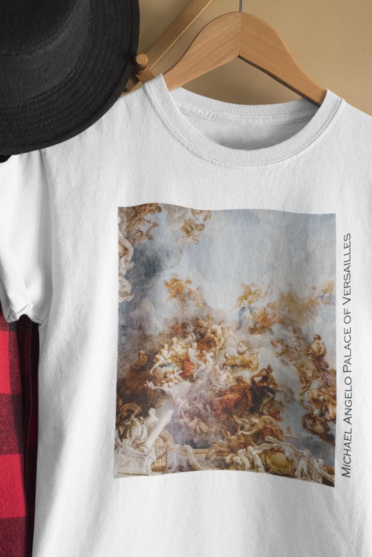 Palace Of Versailles Michelangelo T Shirt Vintage Aesthetic Classic Art Shirt Tumblr Aesthetic Art Shirts Aesthetic Shirt Aesthetic Shirts