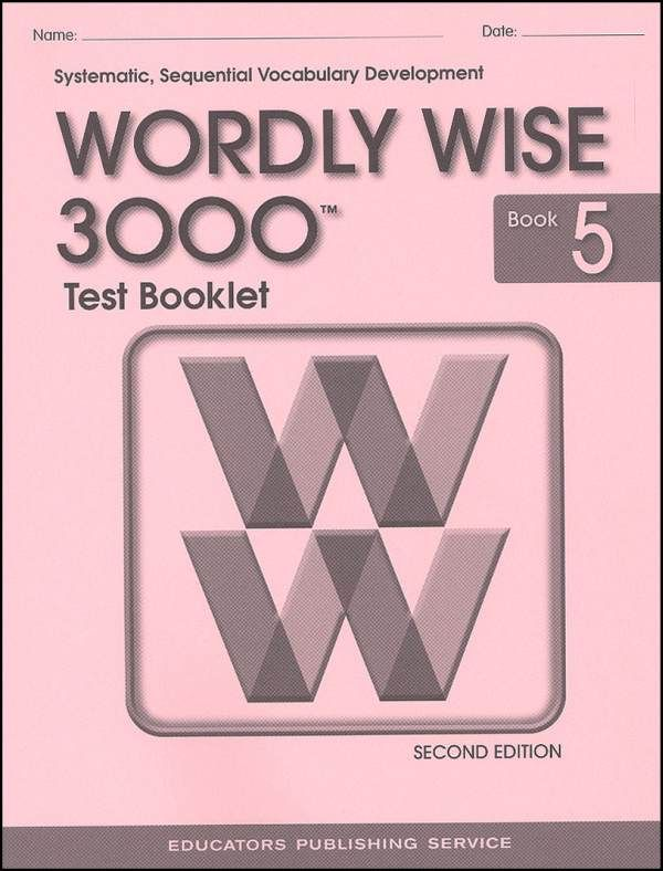 Wordly Wise 3000 Book 5 Test Book 2nd Ed School Stuff