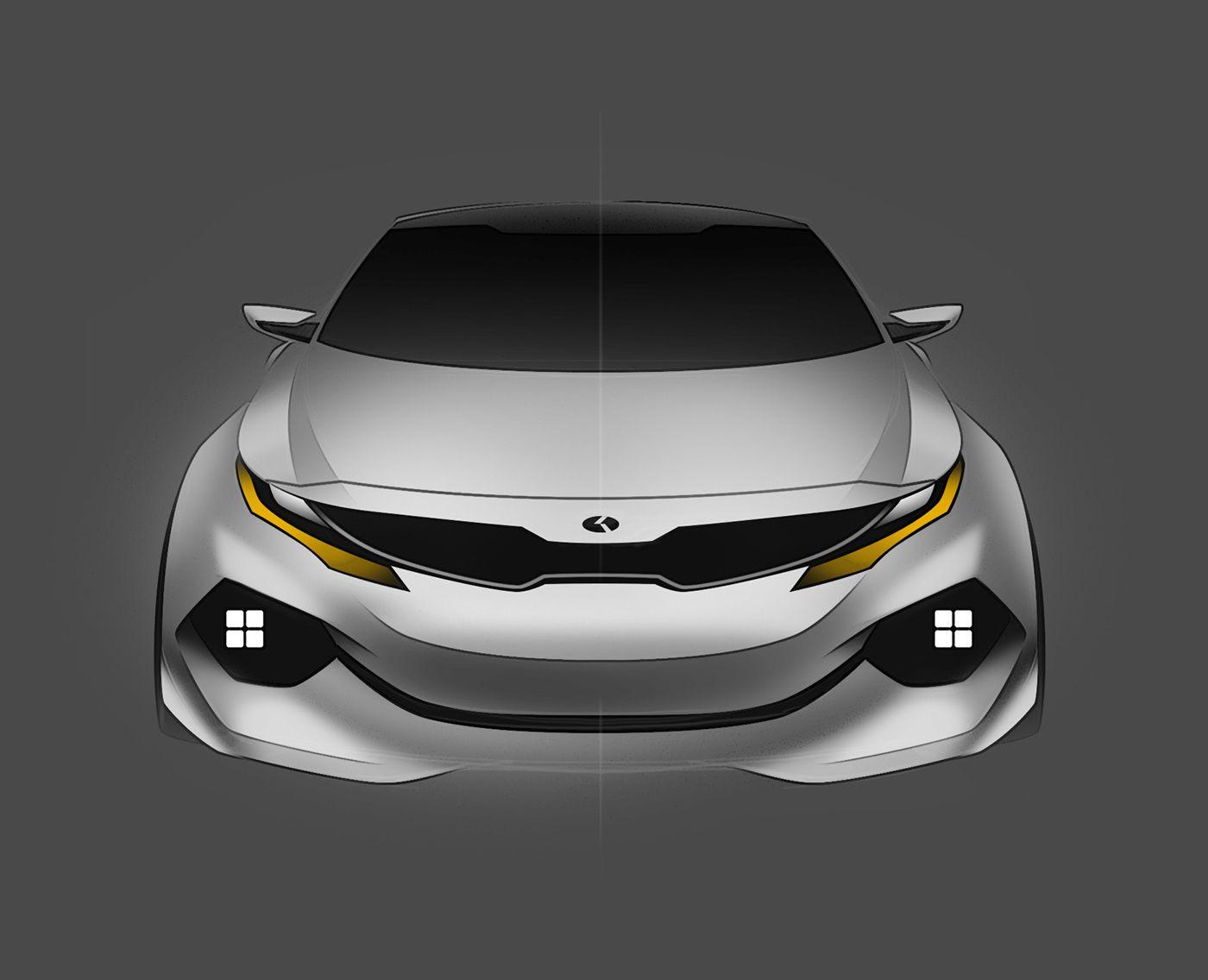 Kia K3 3 Concept on Behance  Automotive illustration, Kia