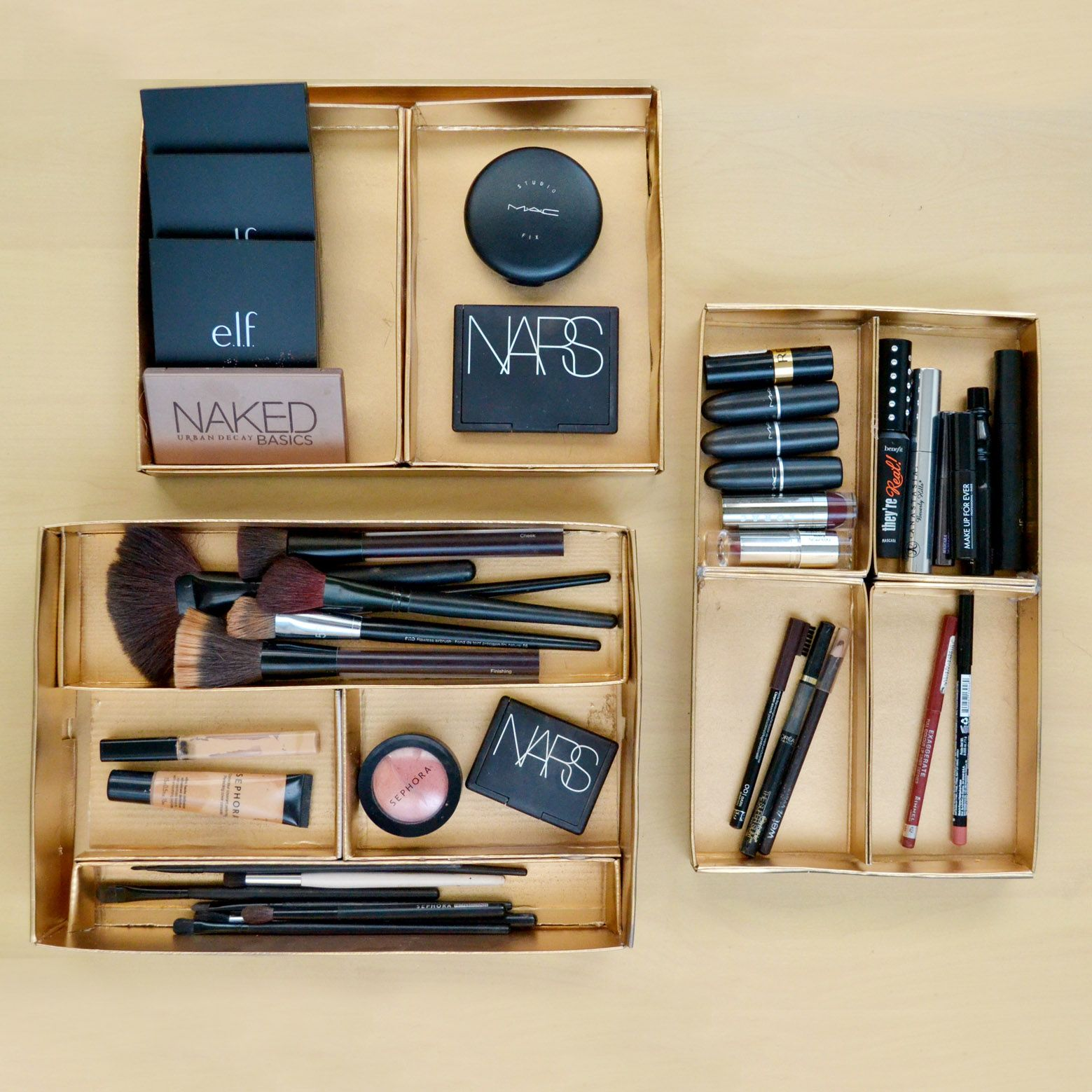 Diy Shoebox Storage Trays Diy Makeup Drawer Dividers Makeup