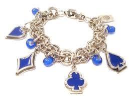 Ciclon Silver & Blue Pendant Bracelet - £35