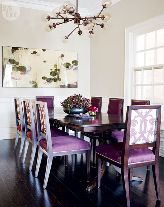 Bold and bright dining space {PHOTO: Michael Graydon}