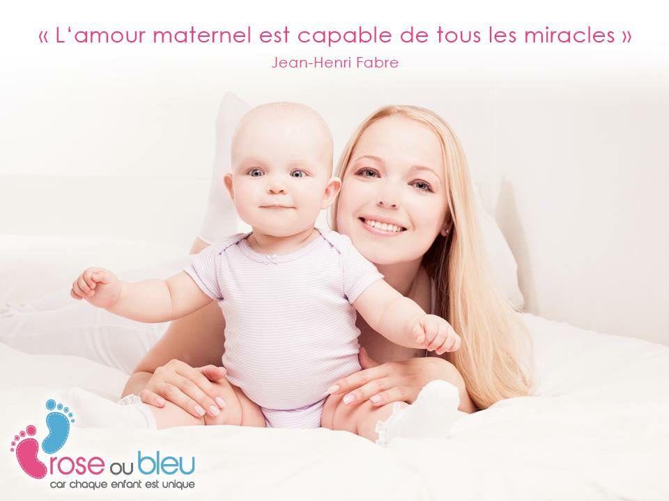 L'amour maternelle est capable de tous les miracles #maman #citation