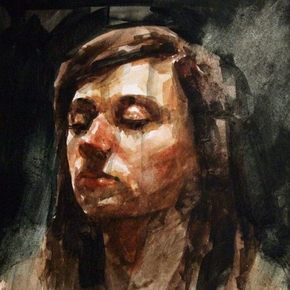 Watercolor Painting Andrea Study 1 by windylanestudio on Etsy, $250.00 @Rose McAvoy...very interesting figurative work on Etsy.