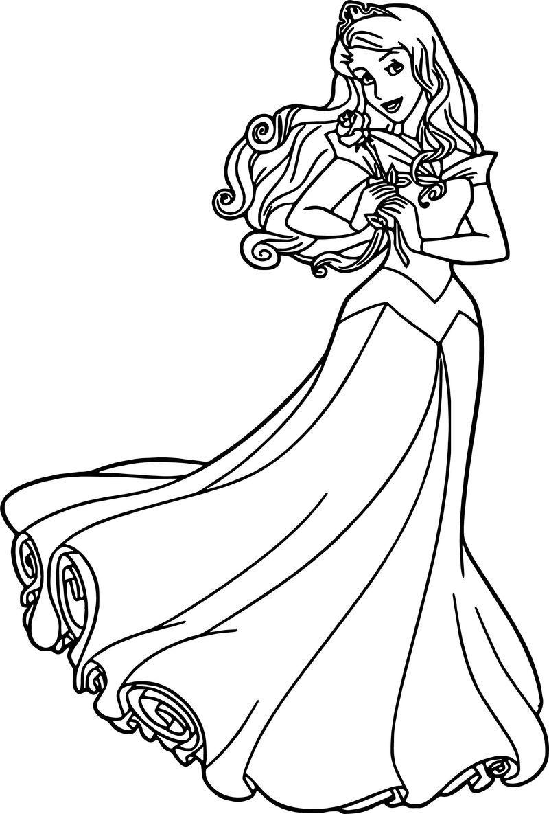Aurora Rose Cartoon Coloring Page Disney Coloring Pages Cartoon Coloring Pages Disney Princess Aurora