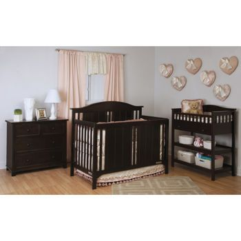 Mckenzie Jamocha 3 Piece Crib Set Converts To Full Bed For Guest Room 1130 At Costco