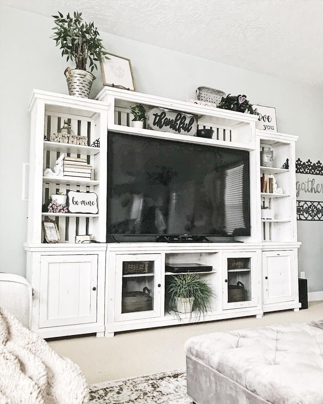 Farmhouse Entertainment Center By That S What I Want Decor Whatiwan Living Room Entertainment Center Farmhouse Entertainment Center Living Room Entertainment