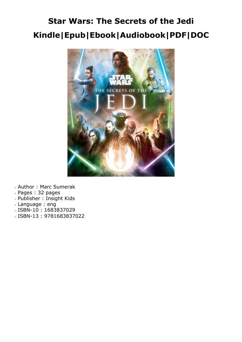 Pdf star wars the secrets of the jedi kindle audio