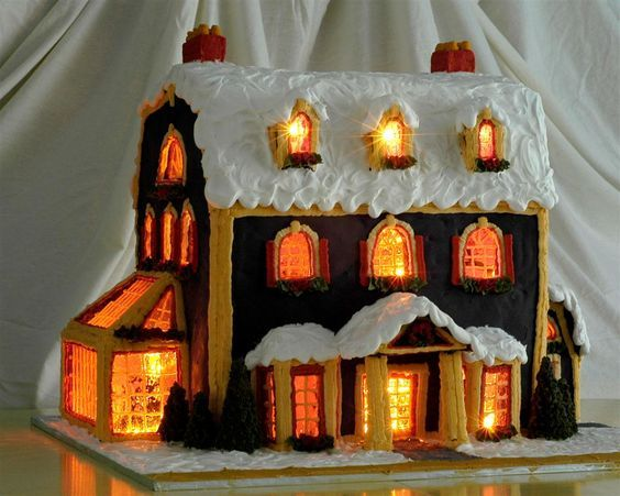 Detailed Instructions for Making a Lighted Gingerbread House #gingerbreadhousetemplate
